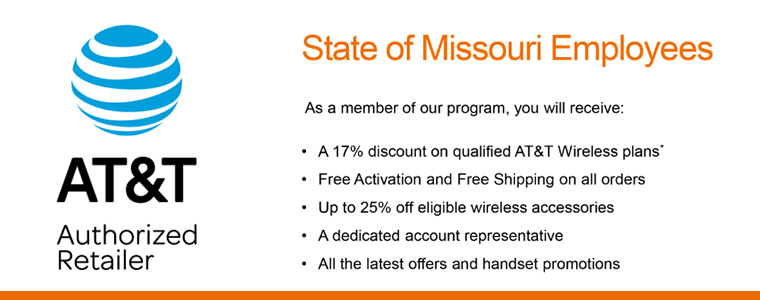 State of Missouri Employees could receive these discounts with AT&T.