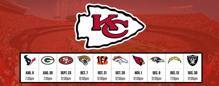 KC Chiefs 2018 Schedule
