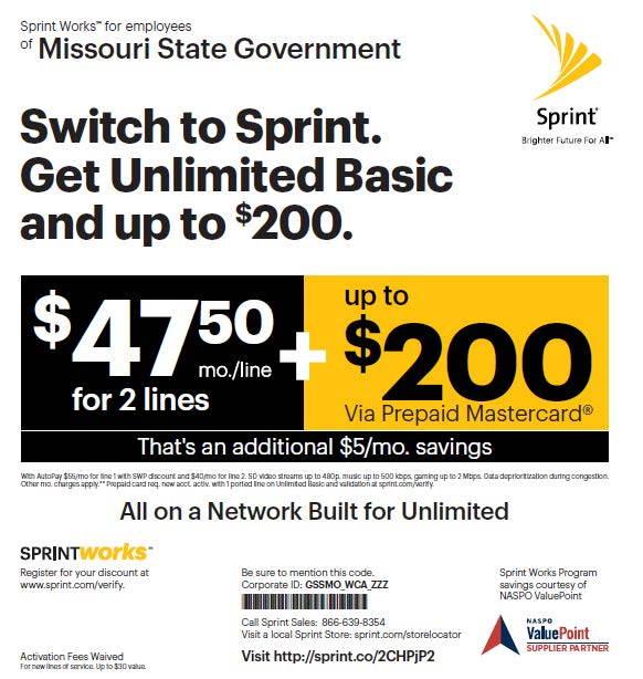Limited Time Offer - Get 2 lines for $47.50 mo./line when you bring or buy your phones PLUS up to $200 via Prepaid Mastercard