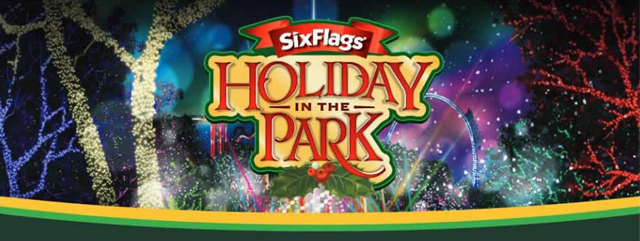 Six Flags St. Louis Holiday Logo
