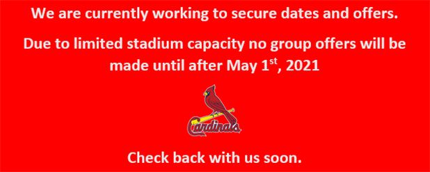 Cardinals currently working to secure dates and offers